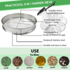 Picture of Practicool Garden Potting Mix Sieve - Stainless Steel Riddle - Soil sifting pan - with 8 Filter mesh Sizes - 2,3,4,6,7,9,11,12 mm and Bonus Spade